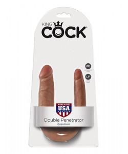 PipeDream King Cock Double Penetrator Фаллоимитатор реалистик двусторонний загар  Артикул: 551322