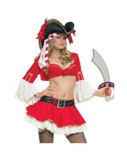 Костюм пирата красный