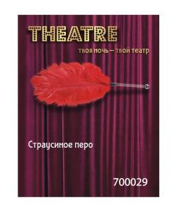 700029 ПЕРО СТРАУСИНОЕ TOYFA THEATRE КРАСНОЕ,40 СМ