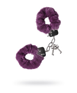 951035 Наручники меховые фиолетовые